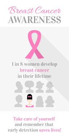 breast cancer awareness ribbon: Breast Cancer October Awareness Month Campaign Poster. Healthcare and medicine concept. Vector illustration