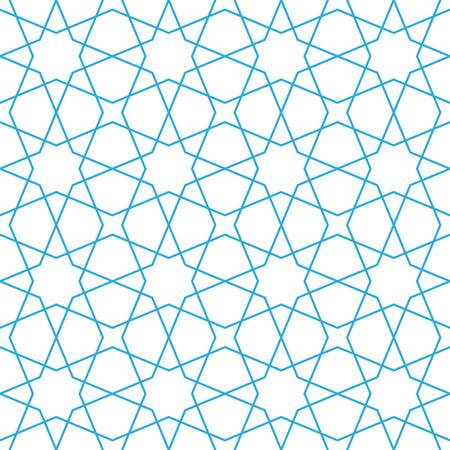 イスラムのパターンのシームレスな髪飾り。ベクトルの背景の繰り返し。幾何学的なタイル テクスチャ