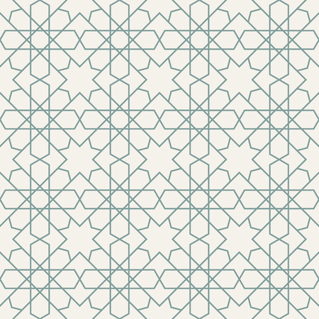 filling line: Islamic pattern seamless ornament. Vector repeating background. Geometric tiled texture Illustration