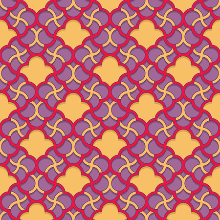 muslim fashion: Arabic pattern colored seamless ornament. Vector repeating background. Geometric tiled texture