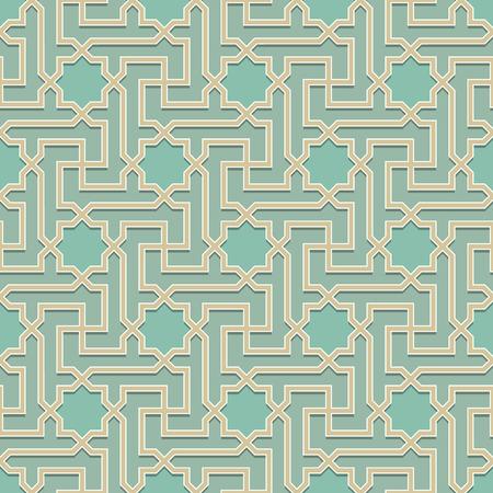 Arabisch Muster nahtlos Ornament gefärbt. Vector Hintergrund wiederholen. Geometrische gekachelten Textur
