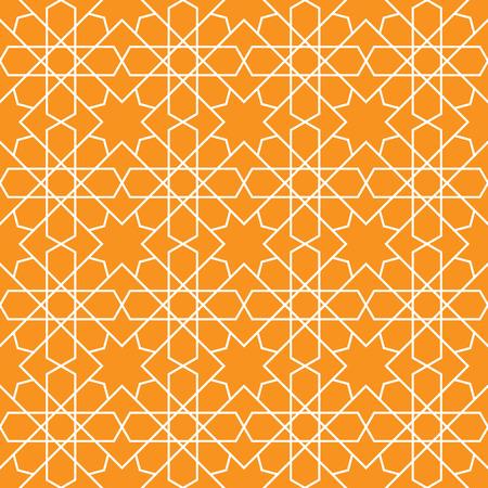 이슬람 패턴 원활한 장식입니다. 벡터 반복 배경입니다. 기하학적 인 타일 텍스처