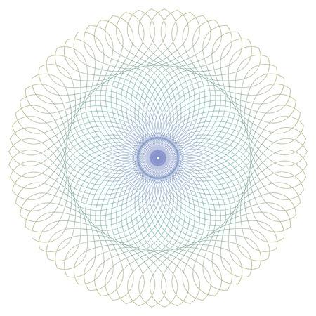 証明書、免状または伝票デザインのラウンドのギョーシェ パターン。ベクトル抽象的な色付きの円フレーム 写真素材 - 81450256