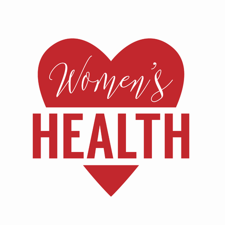 Womens health  isolated on white background