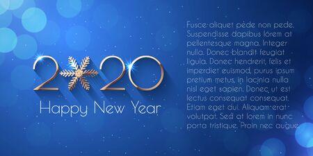 Happy New Year 2020 golden text design Stock fotó - 131262543
