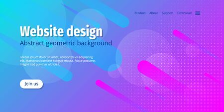 Asbtract background design. Landing page vector template