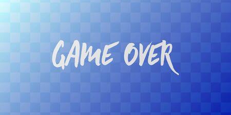 Game Over computer screen. Simple vector illustration Иллюстрация