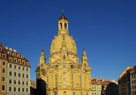 saxony: Dresde Frauenkirche, church in Saxony