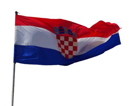 bandera croata Foto de archivo - 2835257