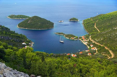 the bay of Planjak, island Mljet, Croatia