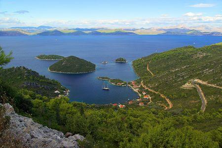 mediteranean: the bay of Planjak, island Mljet, Croatia