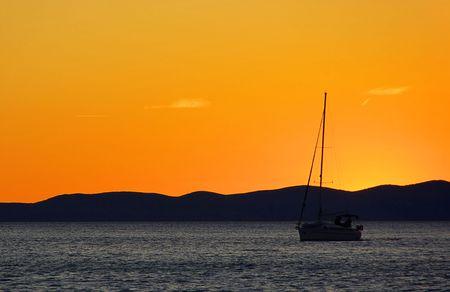 sunset, adiatic sea photo