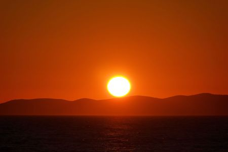 droop: sunset, adiatic sea Stock Photo