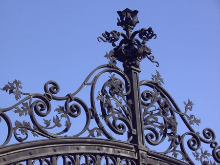 rejas de hierro: Schmiedeeisernes Tor