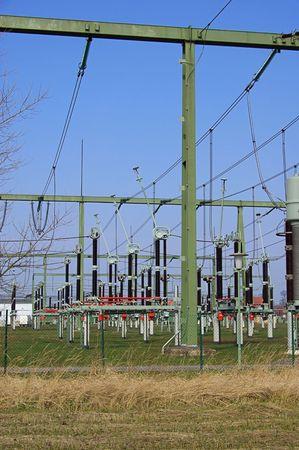 isolator insulator: transformer station