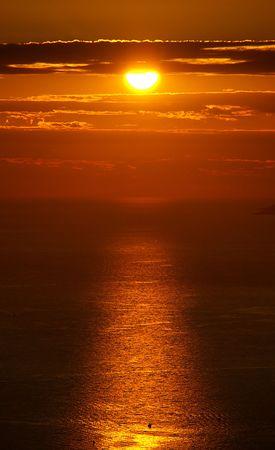sundown in croatia, adriatic sea photo