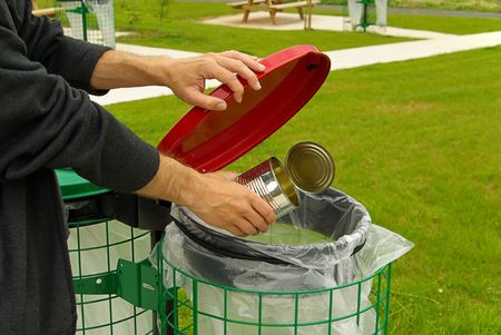 recycle area: dustbin Stock Photo