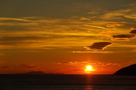 sundown, adriatic sea photo