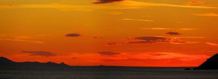 sunset in Croatia photo