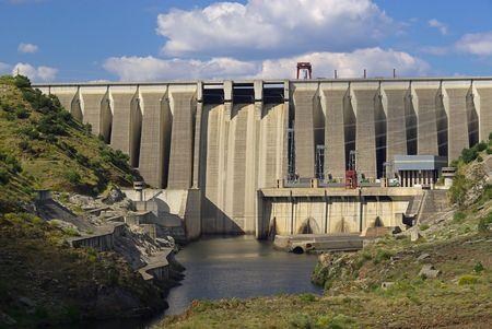 hydropower plants: hydropower plant 03 Stock Photo