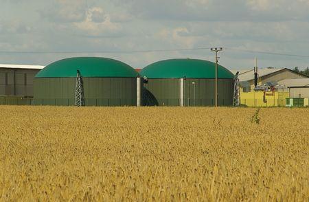 anaerobic: biogas plant, modern
