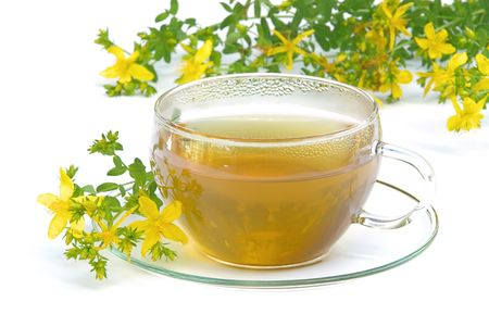 tea St Johns wort 02 Stock Photo - 3492616