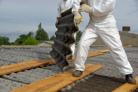 demolition: asbestos 05 Stock Photo