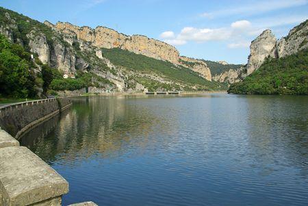 hydropower plants: Rio Ebro Embalse de Sobron 05