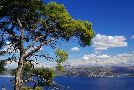blau: elaphitish islands Stock Photo