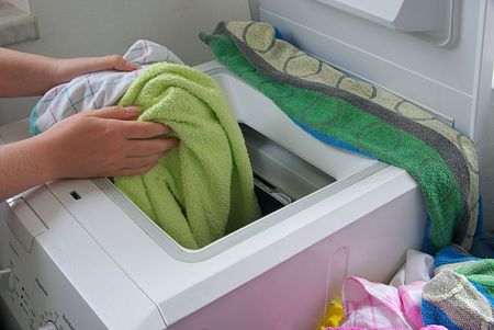 machine: washing clothes 03 Stock Photo