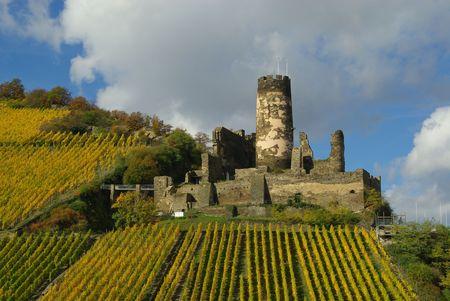 rheintal: castle Fuerstenberg Stock Photo