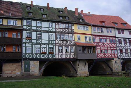 covered bridge: Erfurt Kraemerbruecke