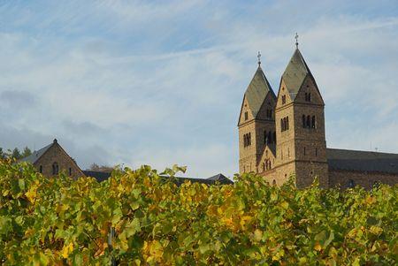 rudesheim: Ruedesheim Eibingen Abbey 04 Stock Photo