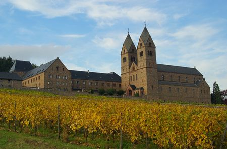 Ruedesheim Eibingen Abbey 11 Stock Photo