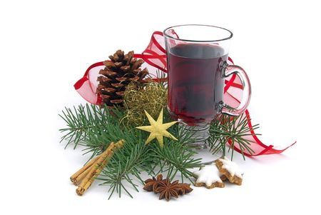 vin chaud: vin chaud poin�on 02 Banque d'images