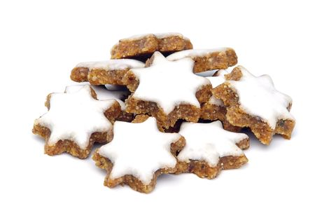 star-shaped cinnamon biscuit 02 Stock Photo - 3910141