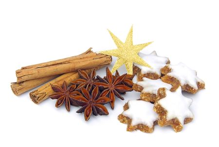 star-shaped cinnamon biscuit 04 Stock Photo - 3928262