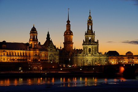 Dresden Altstadt Nacht - Dresden old town night 01 Stock Photo - 4083671