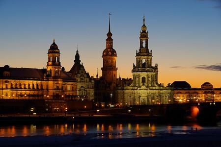 Dresden Altstadt Nacht - Dresden old town night 01 Stock Photo - 4083671