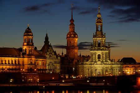 Dresden Altstadt Nacht - Dresden old town night 08 Stock Photo - 4083670