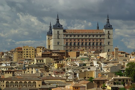 toledo town: Toledo Alcazar 04 Stock Photo