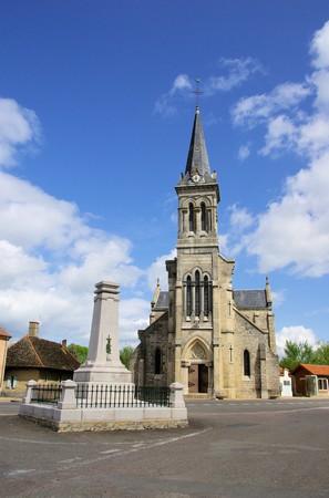 bourgogne: Navilly church Stock Photo