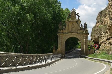 segovia: Segovia town gate 01 Stock Photo