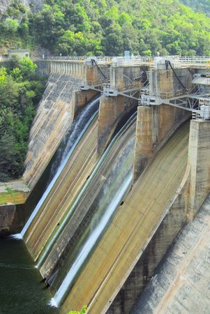 hydropower plants: Rio Ebro Embalse de Sobron 12 Stock Photo