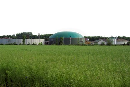 agrar: biogas plant  Stock Photo