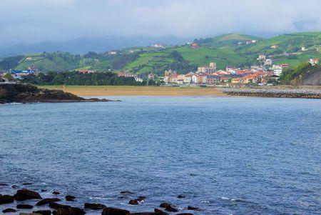 seacoast: Costa Vasca near Zumaia Stock Photo