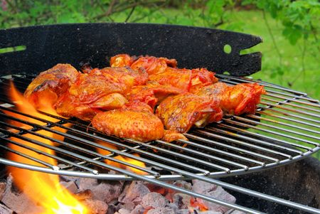 grilling chicken 02 Stock Photo - 4755873