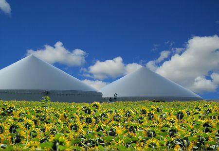agrar: biogas plant 35 Stock Photo