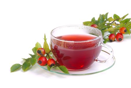 rose hip tea 06 Stock Photo