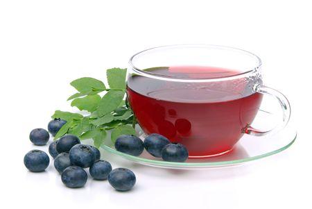 red bush tea: blueberry tea 17 Stock Photo